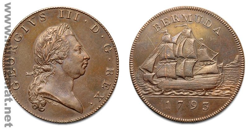 1793 Bermuda Penny